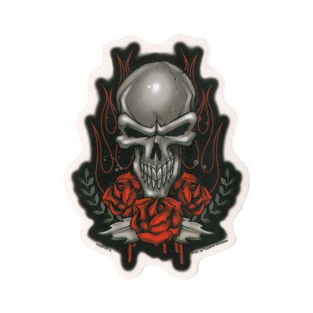 F.T.S. - Skull Roses - Sticker / Decal for $<!---->