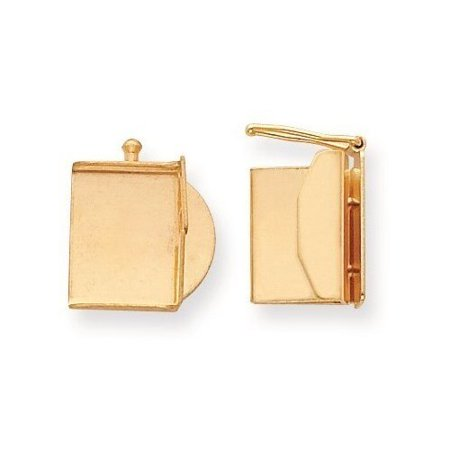10.6mm x 13.1mm 14k Yellow Gold Replacement Tongue for Folded Box Clasp thumbnail