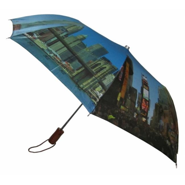 Conch Umbrellas 3999NY 42 inch 3 Fold Compact Umbrella With Ny Sightseeing Design