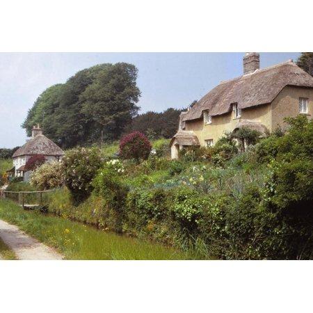 Village of Littlebredy, Dorset, 20th century Print Wall Art By CM (Best Villages In Dorset)