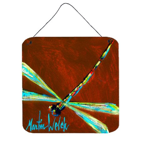 Insect - Dragonfly Chocolate Chip Aluminium Metal Wall or Door Hanging Prints ()