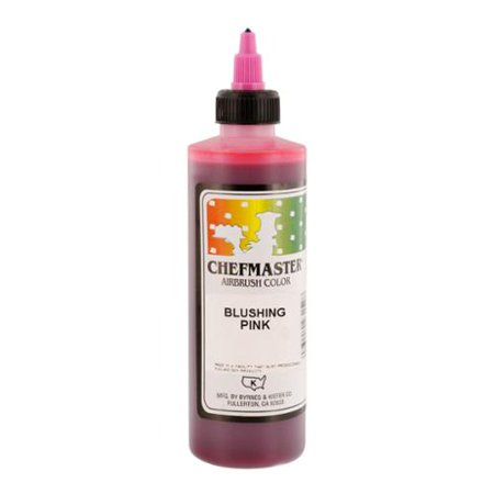 Chefmaster 9 Ounce Blushing Pink Airbrush Cake Decorating Food Color