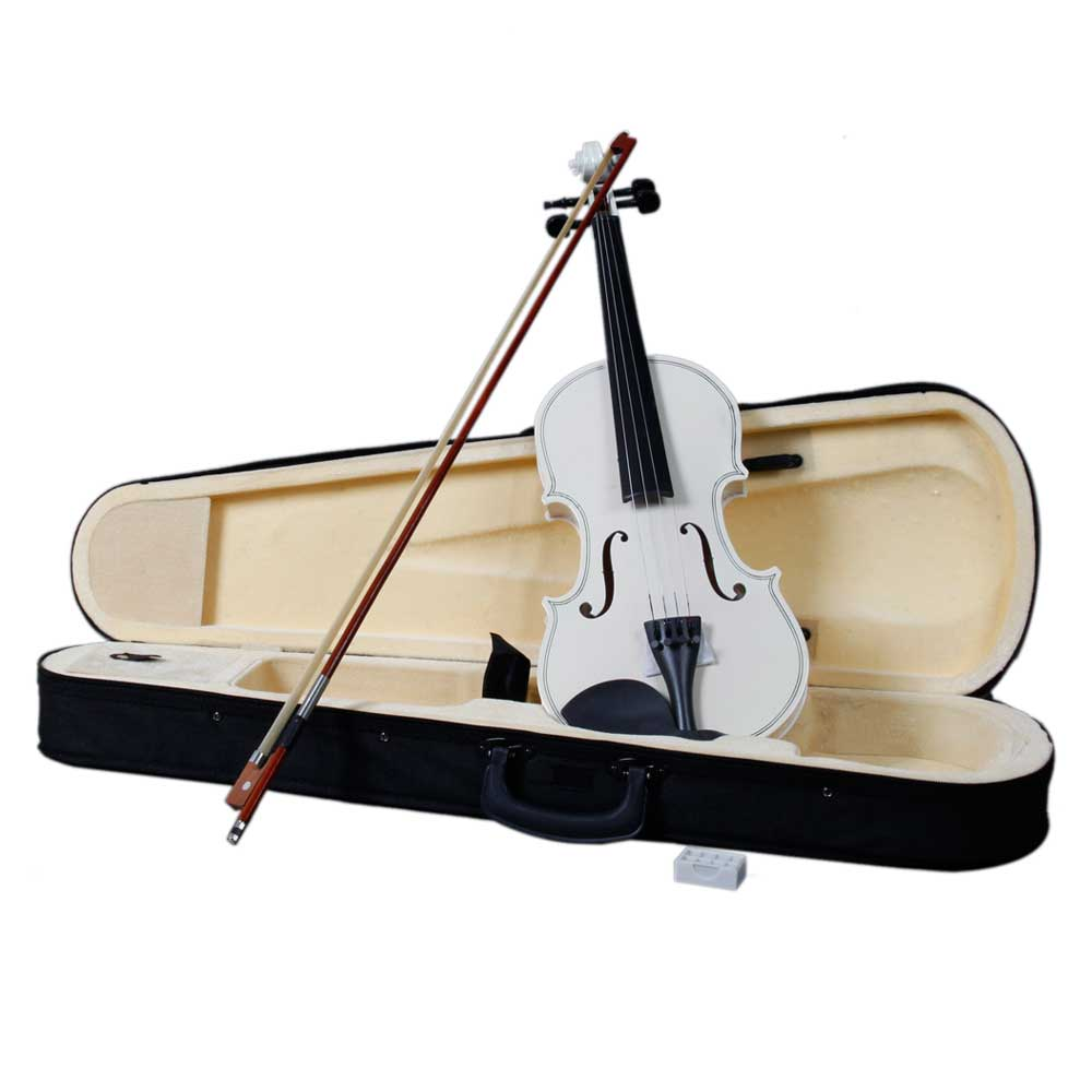 Zimtown  Hot 4/4 Full Size Two Color (Natural&White)Acoustic Violin Fiddle with Case Bow Rosin