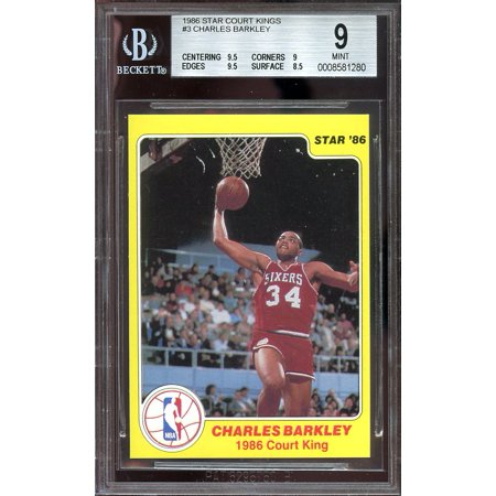 1986 Star Court Kings  3 Charles Barkley 76Ers Rookie Bgs 9  9 5 9 9 5 8 5