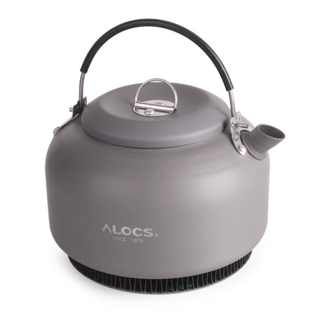 1.4L Alloy Kettle Water Teapot Outdoor Camping Hiking Coffee Pot Portable Cookware with Mesh Bag ()