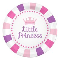 Little Princess Party Paper Dessert Plates, 7in, 24ct