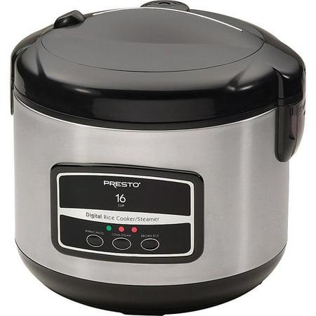 Presto 16-Cup Digital Stainless Steel Rice Cooker/Steamer 05813