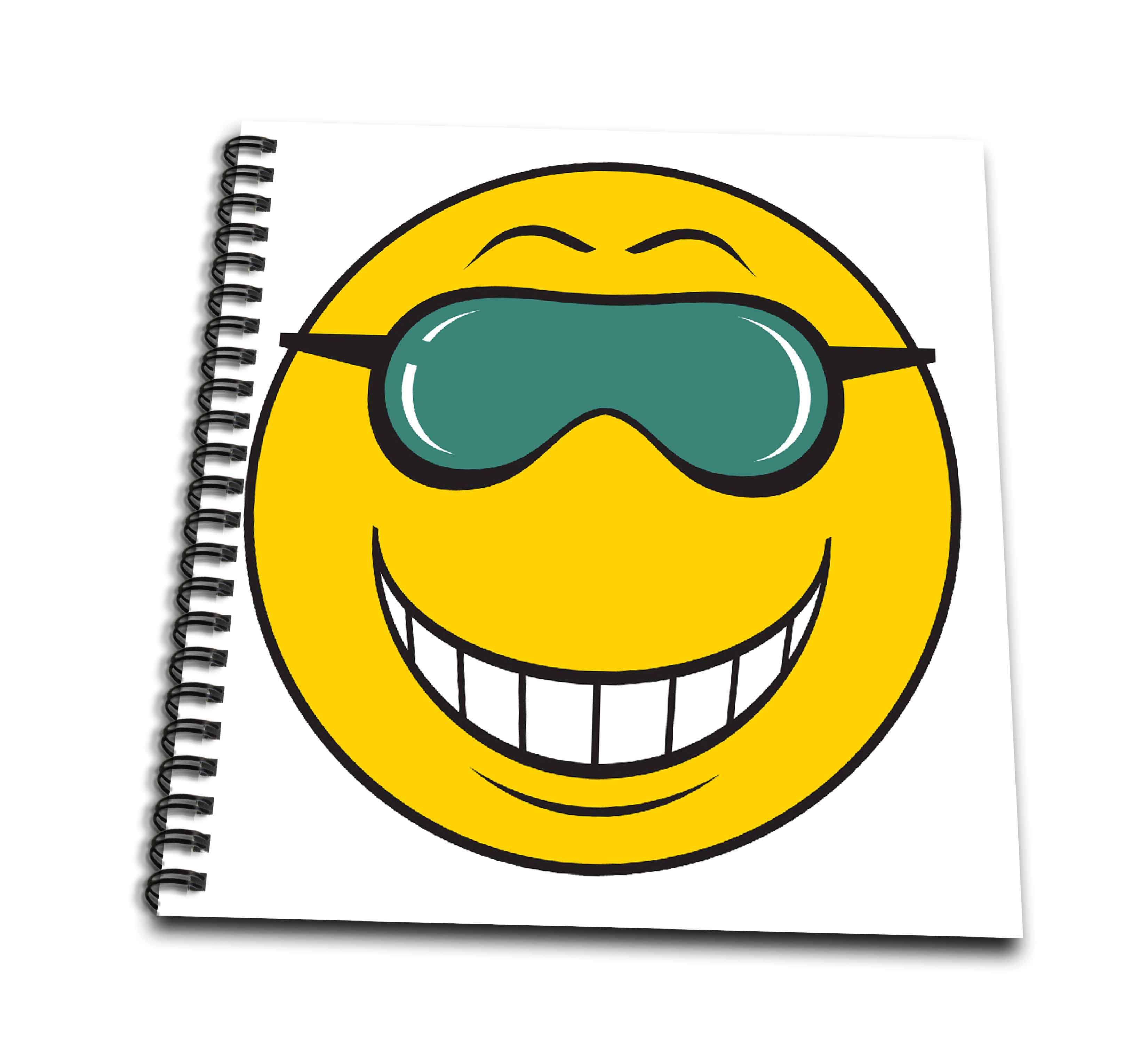 3dRose Dork Girl Yellow Smiley Face - Drawing Book, 8 by 8-inch