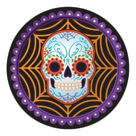 Day of the Dead Halloween Skull 8 9