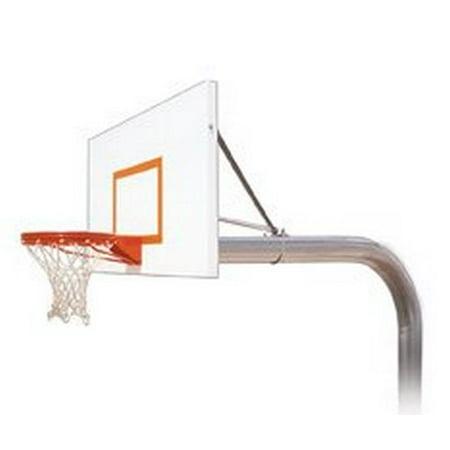 First Team Brute Endura Steel-Aluminum In Ground Fixed Height Basketball System44; Kelly Green - Iu Basketball Halloween