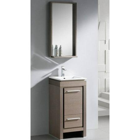 Fresca Allier 16 39 39 Single Small Modern Bathroom Vanity Set With Mirror