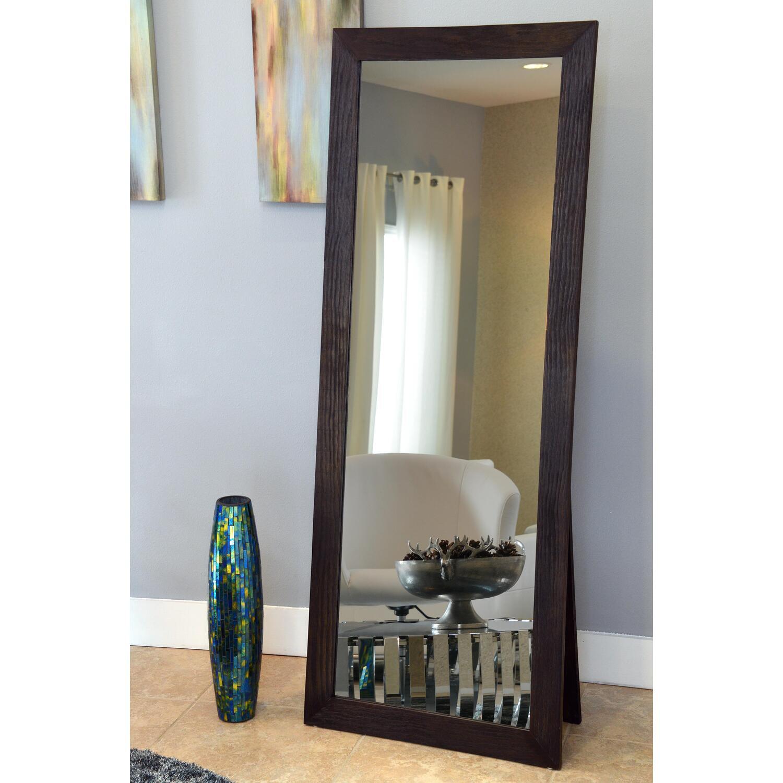 Freestanding Cheval Floor Cheval Mirror Espresso 72 X 28 By Naomi Home Walmart Com Walmart Com
