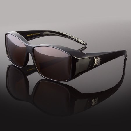 POLARIZED Cover Put Fit over Sunglasses wear Rx glass Fit Driving Brown or (Shades Over Glasses)