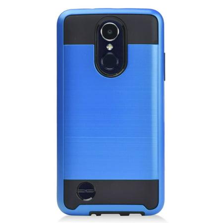 sports shoes 5e0e8 f3347 MUNDAZE Blue Brushed Metal Double Layered Case For LG Risio 3 Phone