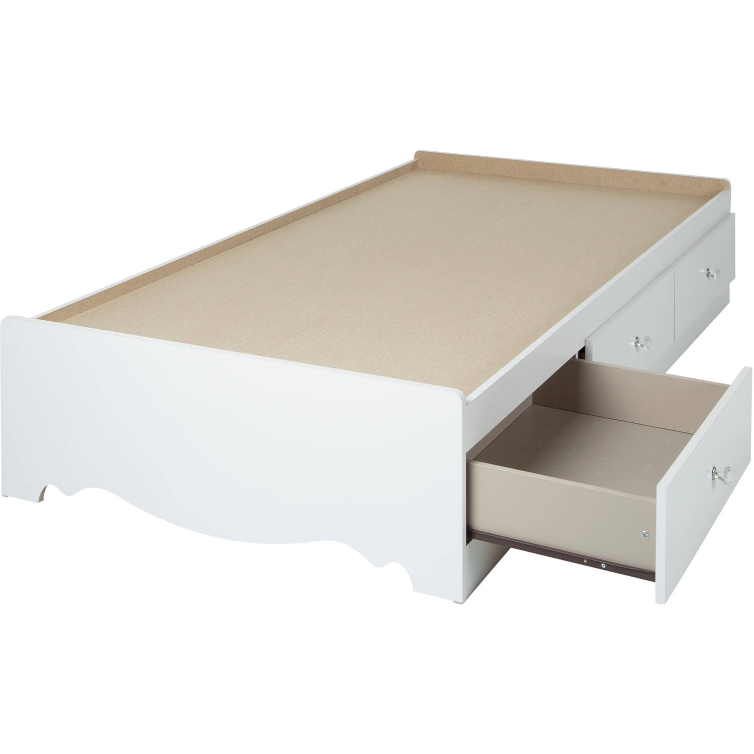 white twin storage bed. Perfect Storage South Shore Crystal Twin Storage Bed 39u0027u0027 With 3 Drawers Pure White   Walmartcom On I