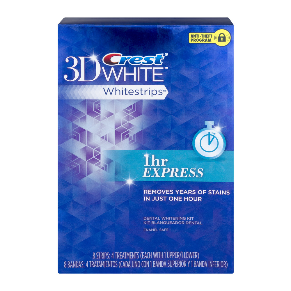 crest 3d white professional effects whitestrips teeth whitening strips kit 20 treatments walmartcom