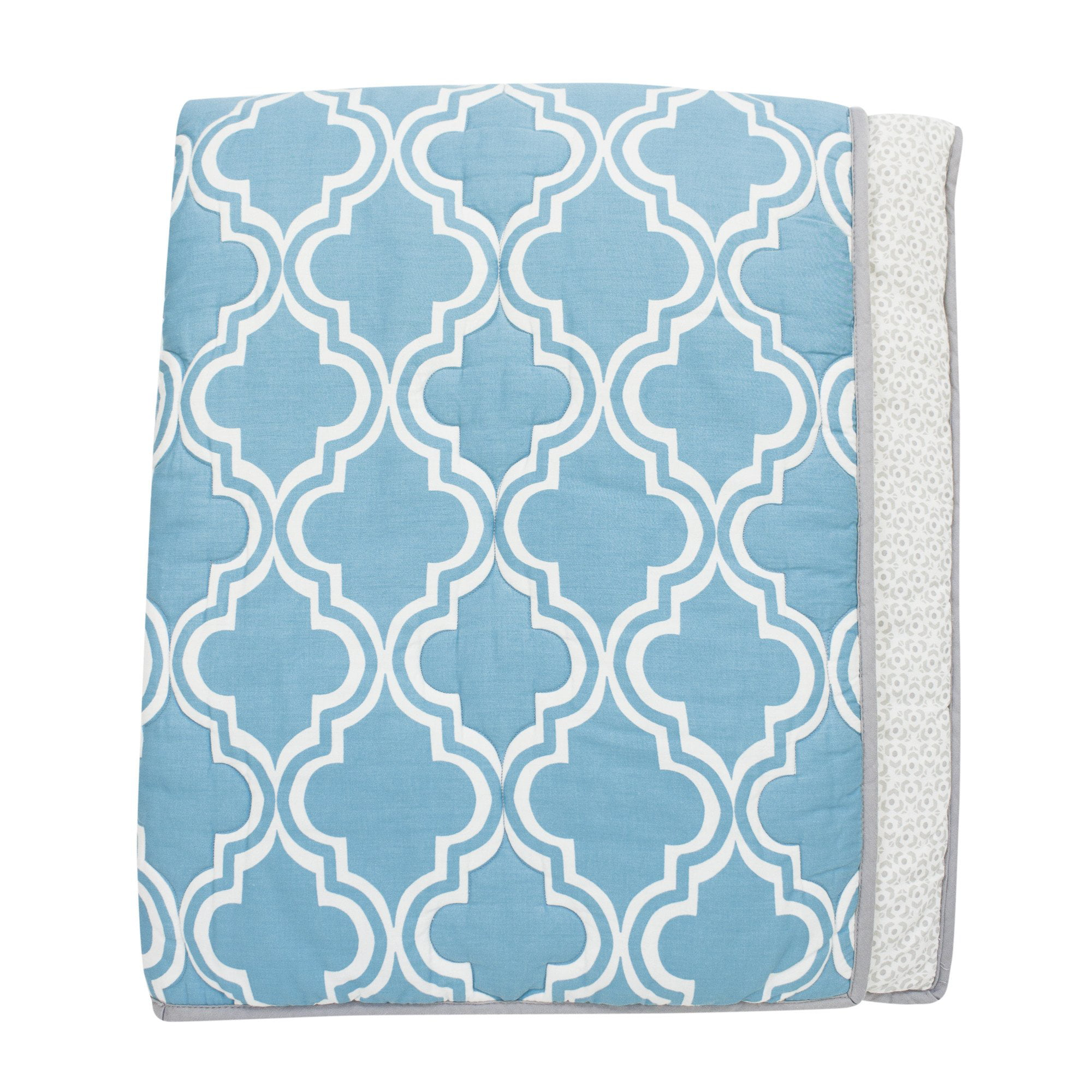 Lambs & Ivy Ryan Collection Reversible Coverlet Quilt Blue, Modern by Lambs & Ivy