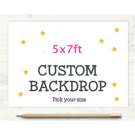Personalized Photo Backdrop (HelloDecor Polyster Photography Backdrop 5x7ft Personalized Your Owner Pictures Backgrounds Backdrop for Party, Wedding,)