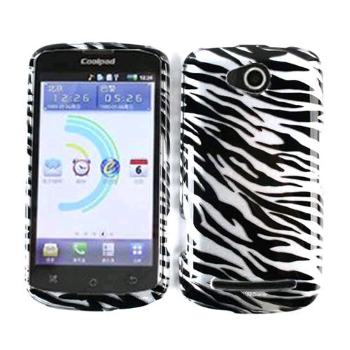 Snap-On Protector Case for CoolPad 5860E / Quattro 4G - Transparent Zebra Print