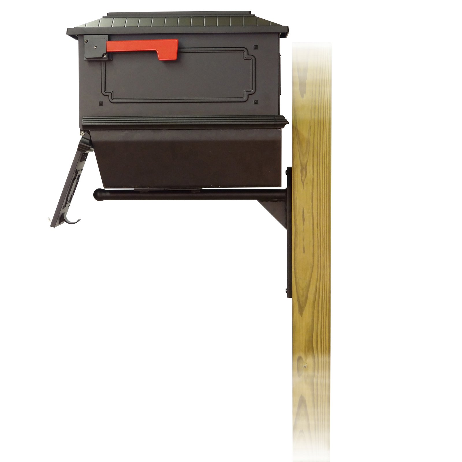 Picture of: Special Lite Products Tc Ash Fs 2017 Blk Kingston Curbside Mailbox With Newspaper Tube Ashley Front Single Mailbox Mounting Bracket Black Walmart Com Walmart Com