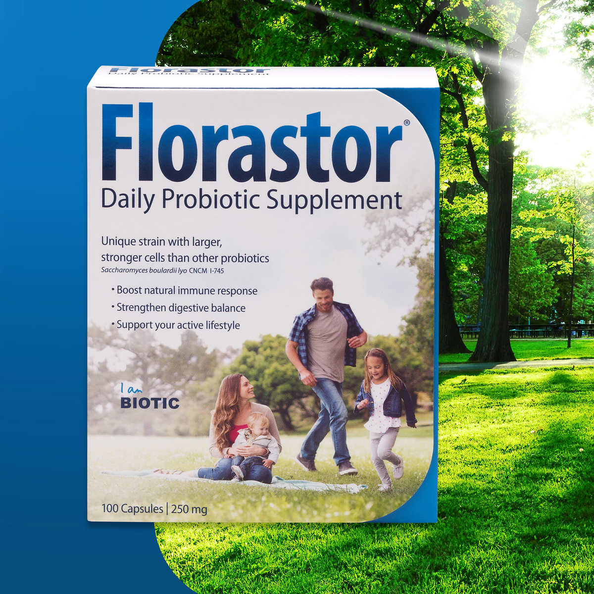 Florastor Daily Probiotic 250 mg., 100 Capsules