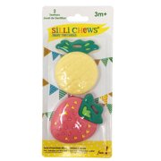 Silli Chews Pineapple and Strawberry Baby Teether, 2 pc
