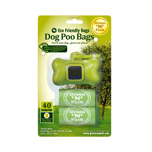 Green-n-Pack Dog Poo Bags and Dispenser - 40 Pack