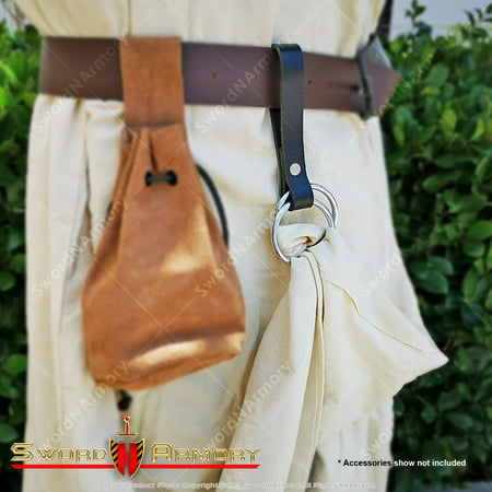 Set of 4 Leather Skirt Chaser Dress Hiker Medieval Renaissance Fair Costume Hook