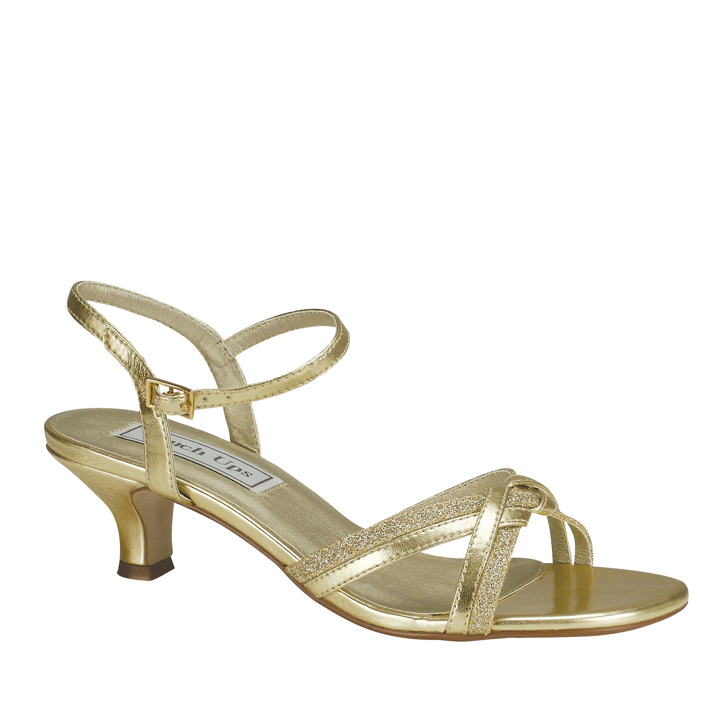 Touch Ups Melanie Womens Gold Sandals 10 M by