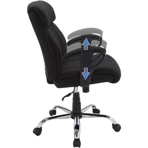 Serta Big Tall Fabric Manager Office Chair Supports Up To 300 Lbs Black Walmart Com Walmart Com