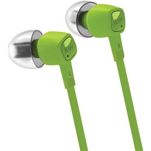 iLuv jetTurbo iEP386 High-Performance Earphones with SpeakEZ Remote, Green