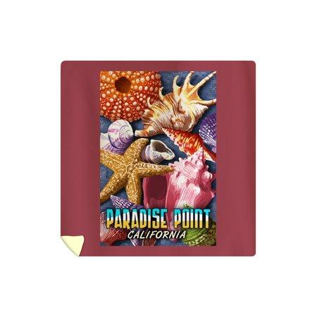 Paradise Point, California - Shells Montage - Lantern Press Artwork (88x88 Queen Microfiber Duvet Cover)