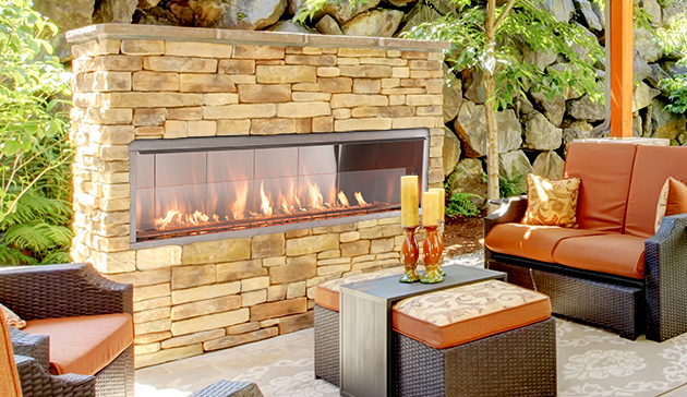 "Superior VRE4636ZEN 36"" Vent Free Electronic Ignition Outdoor Fireplace Natural Gas by Superior Fireplaces"