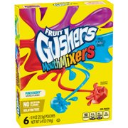 Betty Crocker Gushers Mouth Mixers Punch Berry, 6 ct, 5.4 oz