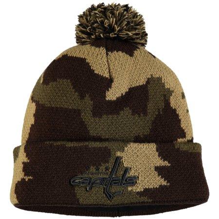 Washington Capitals Fanatics Branded Rank Knit Hat - Camo - OSFA