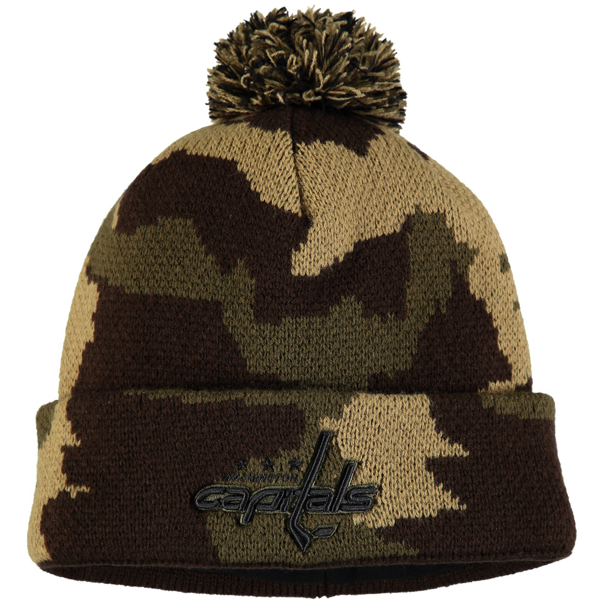 Washington Capitals Fanatics Branded Rank Knit Hat - Camo - OSFA