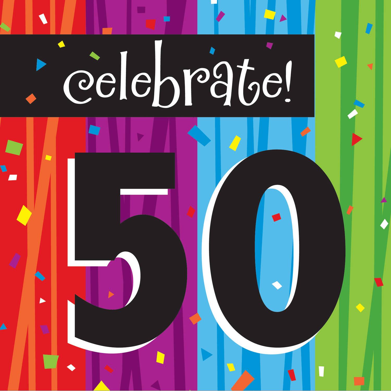 Milestone Celebrations 50th Birthday Napkins, 16pk