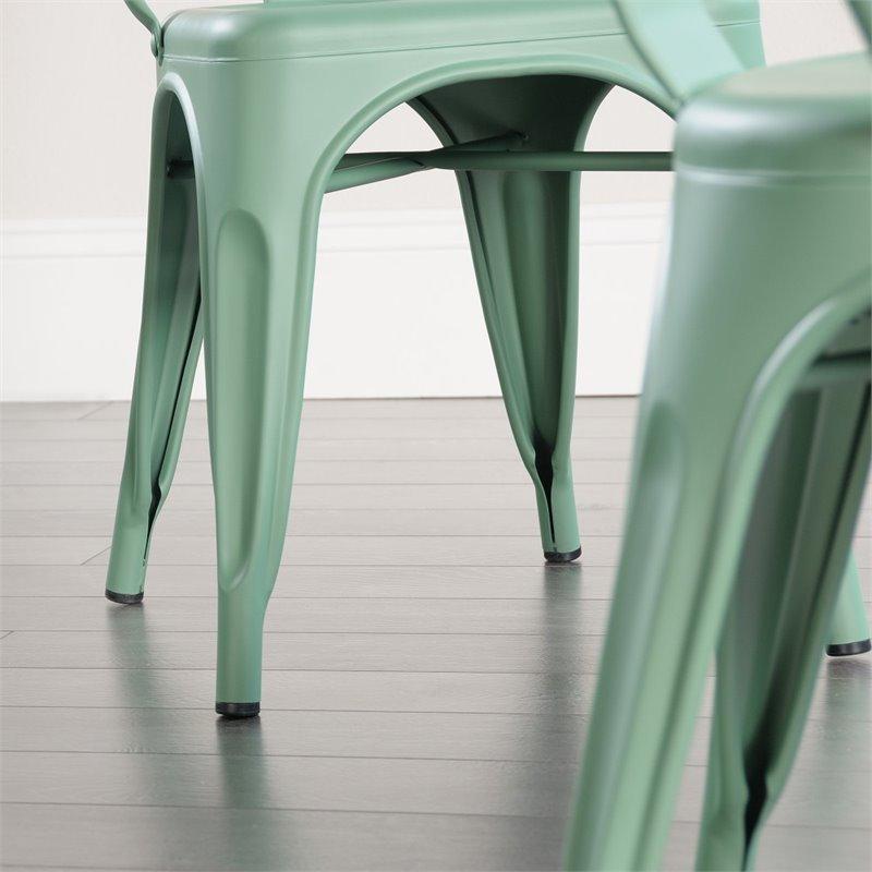 Sauder New Grange Cafe Chair in Matte Green (Set of 2) - image 2 de 8