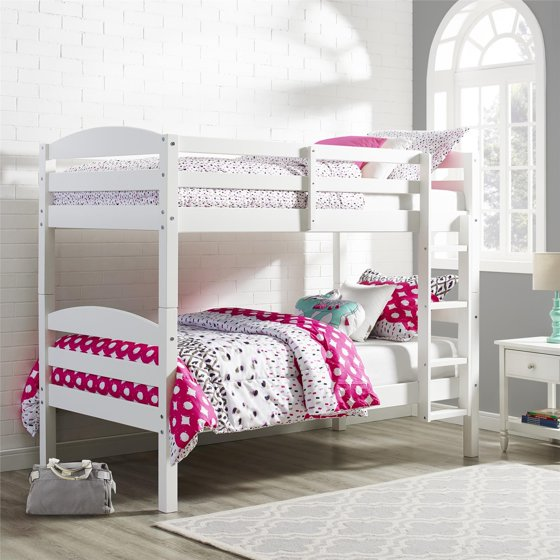 Better homes and gardens leighton twin over twin wood bunk bed multiple finishes for Better homes and gardens bed in a bag