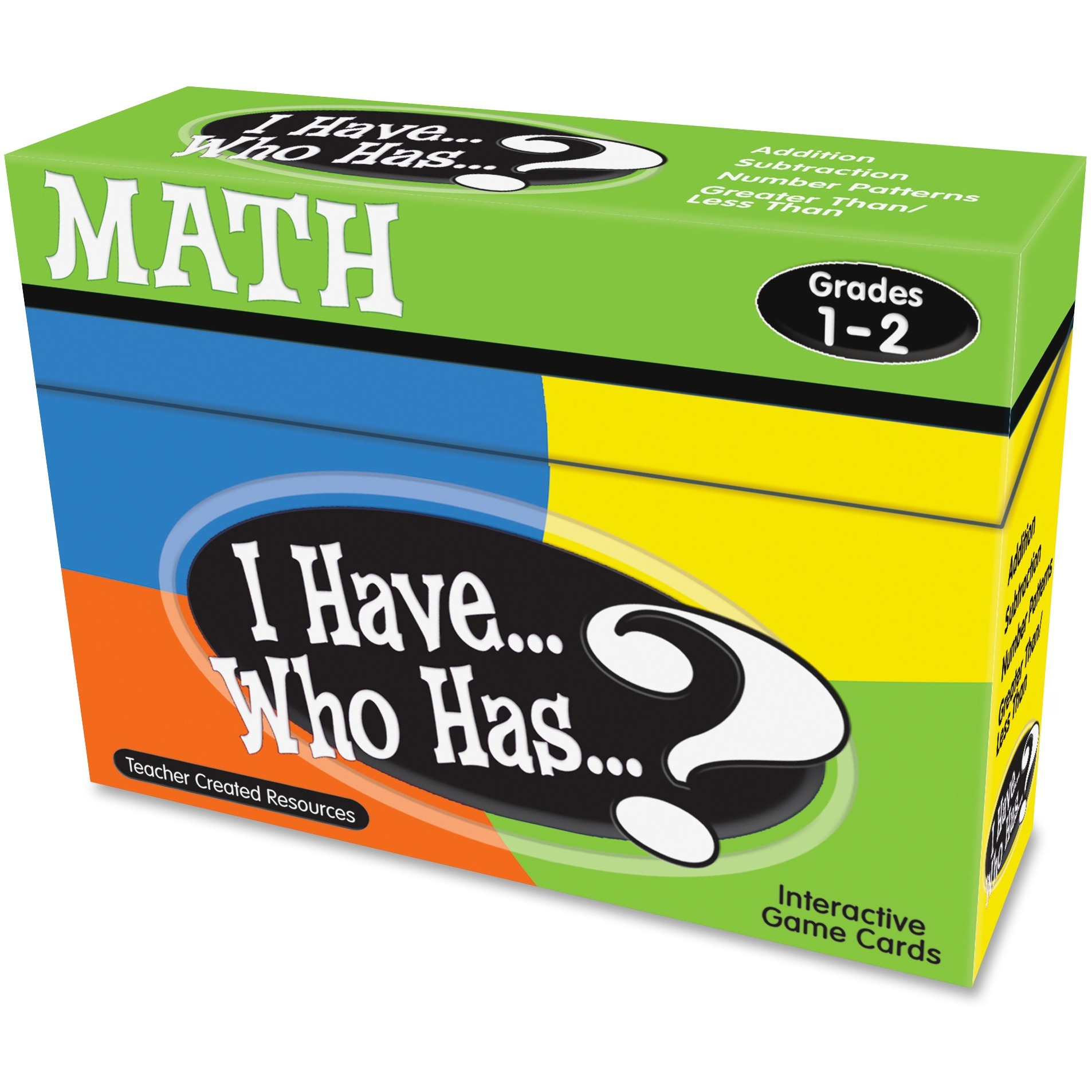 Teacher Created Resources, TCR7817, 1&2 I Have Who Has Math Game, 1 Each, Multi