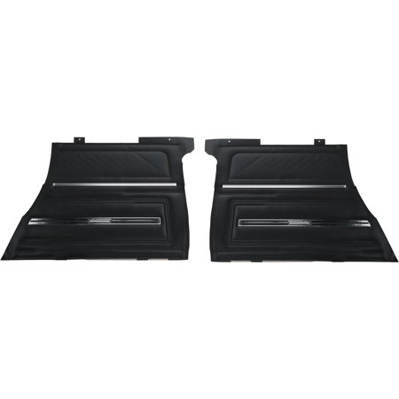 Rear Coupe Door Panel - PUI Interiors PD280C Rear Door Panel, 1966 Chevelle Coupe, Black