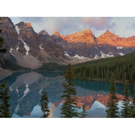 Early Morning Reflections in Moraine Lake, Banff National Park, UNESCO World Heritage Site, Alberta Print Wall Art By Martin Child ()