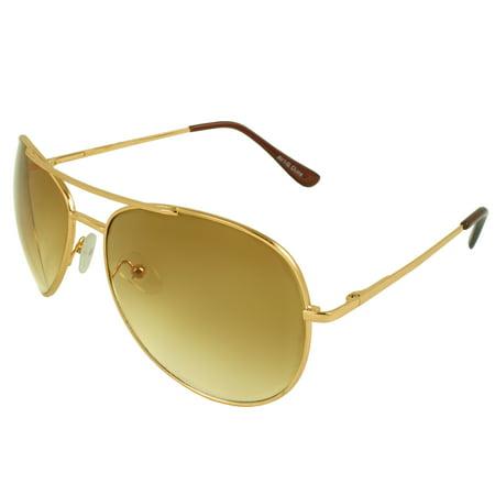 MLC EYEWEAR Retro Pilot Aviator Sunglasses Tri-Layer Unisex - (Good Aviator Sunglasses Brands)