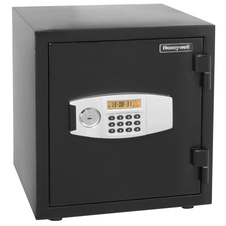 Honeywell Medium 1 Hour Fire Rated Water Resistant Steel Security Safe with Digital Lock, 1.24 Cu. Ft., 2115
