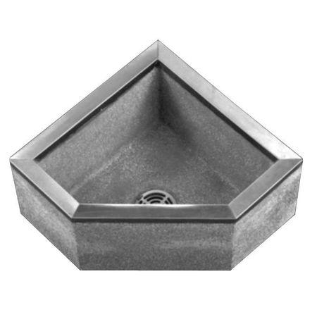 FIAT PRODUCTS TSBC6010501 Corner Mop Sink,Black/White,24 ...