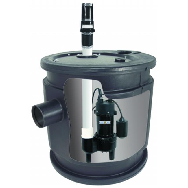 Bur-Cam Pumps 401451 .4 HP Pre-Assembled Sewage Tank System