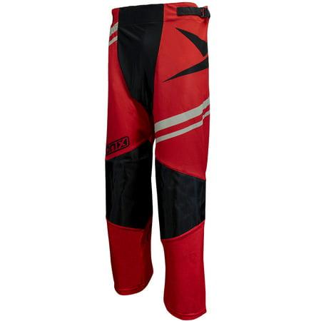 TronX Venom Roller Hockey Pants (Red/Silver) Custom Roller Hockey Pants
