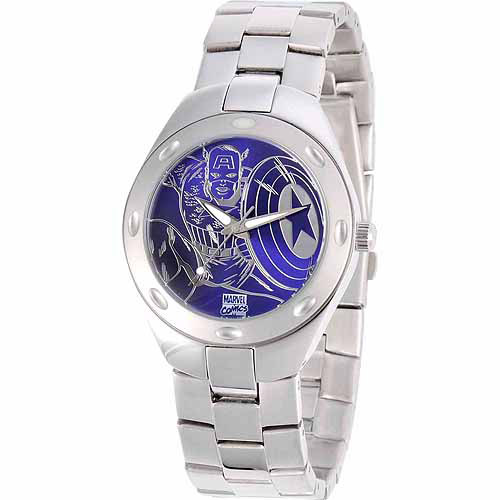 Marvel Captain America Men's Fortaleza Watch, Silver Bracelet