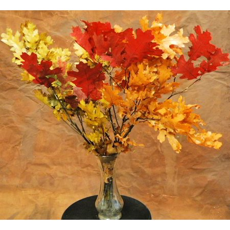 Dried Fall Leaves Branches - Red 4 oz bunch -- Single Bunch