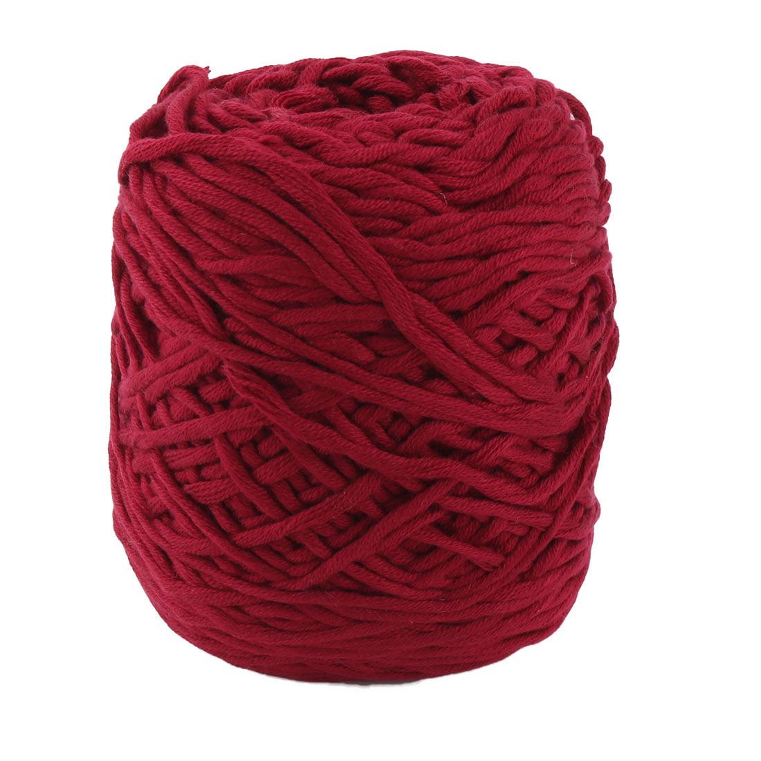 Acrylic Fiber Handmade Crochet Scarf Sweater Knitting Yarn Cord Burgundy 200g